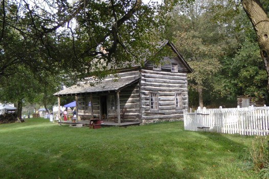 moon log cabin and herb garden image